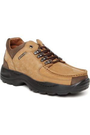 Woodland ProPlanet Men Camel Brown Nubuck Leather Trekking Shoes