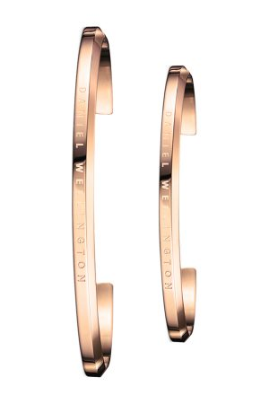 Daniel Wellington Set of 2 His & Her -Plated Cuff Bracelets