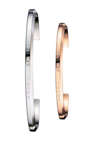 Daniel Wellington His & Her Rose Gold & Silver Stainless Steel Bracelet Set