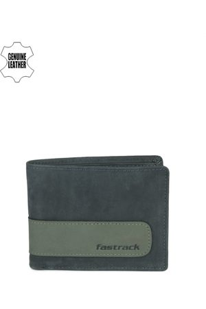 Fastrack Men Wallets - Men Blue & Green Genuine Leather Wallet