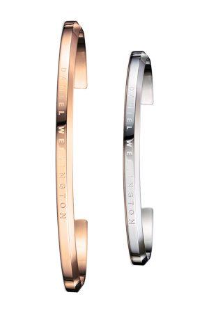 Daniel Wellington Set of 2 His & Her -Toned & Rose Gold Cuff Bracelets