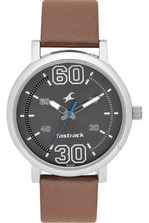 Fastrack Men Gunmetal-Toned Analogue Watch 38052SL03_OR