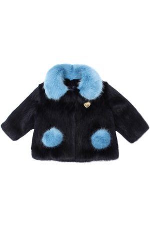 BANDITS GIRL Two Tone Faux Fur Coat