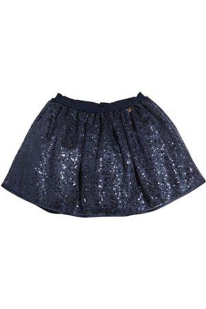 MISS BLUMARINE Sequined Mesh Skirt W/ Lurex