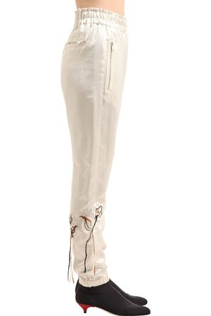 Sonia by Sonia Rykiel Floral Embroidered Satin Pants