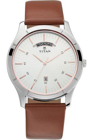 Titan On Trend Men Silver Analogue watch NL1767SL01