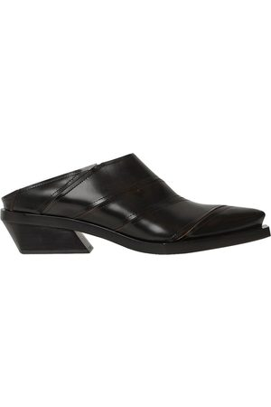 Proenza Schouler 30mm Paneled Leather Mules