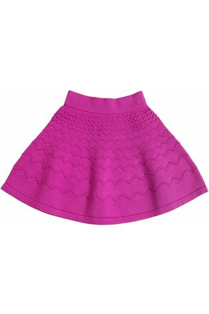 Milly Zigzag Embossed Viscose Knit Skirt