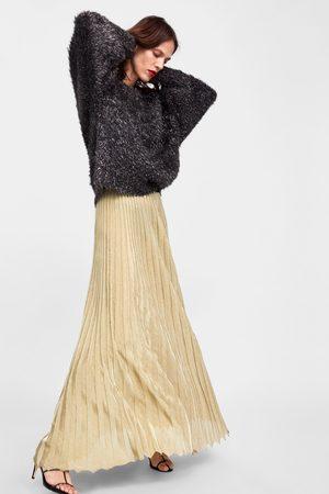 10fbfccfad Zara Women Pleated Skirts - LIMITED EDITION METALLIC THREAD PLEATED SKIRT