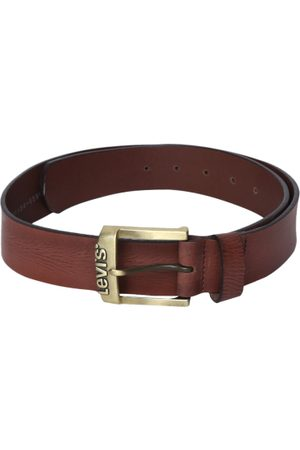 Levi's Men Brown Textured Leather Belt