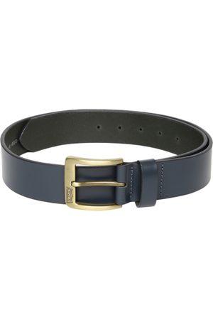Levi's Men Blue Solid Leather Belt