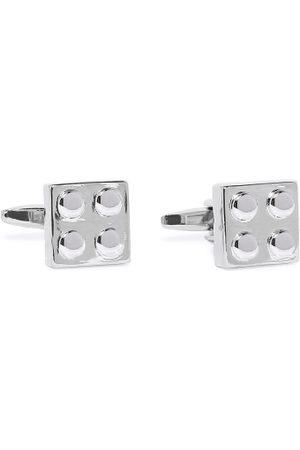 Peora Silver-Toned Square Cufflinks