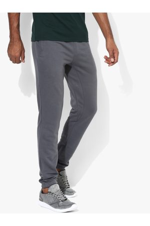 Alcis Men Grey Straight Fit Solid Joggers