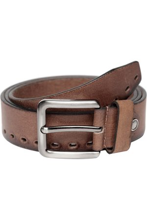 Teakwood Leathers Men Leather Belt With Cut-Outs