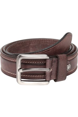 Teakwood Leathers Men Brown Solid Leather Belt