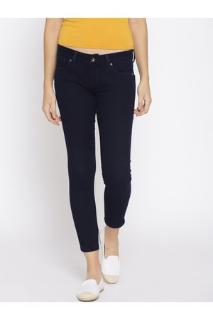 Pepe Jeans Women Jegging Super Skinny Fit Low-Rise Clean Look Cropped Jeans
