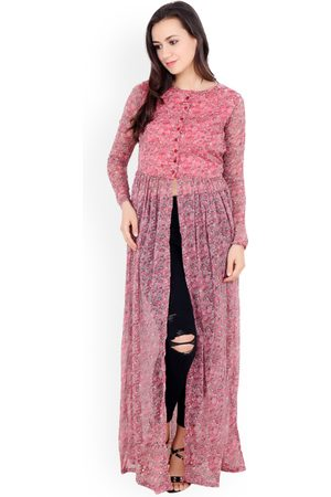 Cation Women Pink Printed Maxi Top