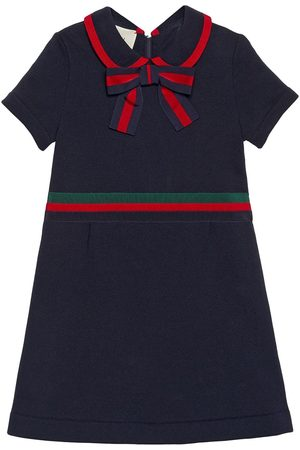 Gucci Children's cotton dress with Web Bow