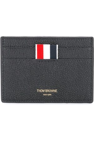 Thom Browne Credit Card Holder In Pebble Grain