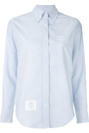 Thom Browne Women Long Sleeve - Classic Long Sleeve Button Down Shirt In Oxford
