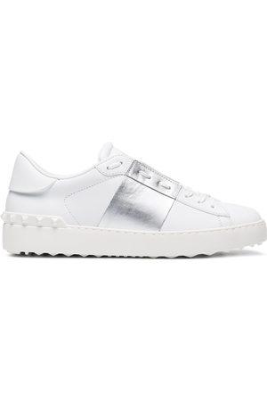 Valentino Silver Open Rockstud Sneakers