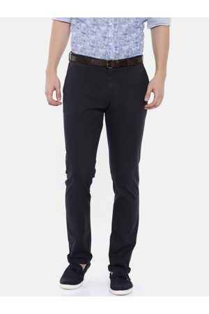 Blackberrys Men Sharp Tapered Fit Solid Chinos