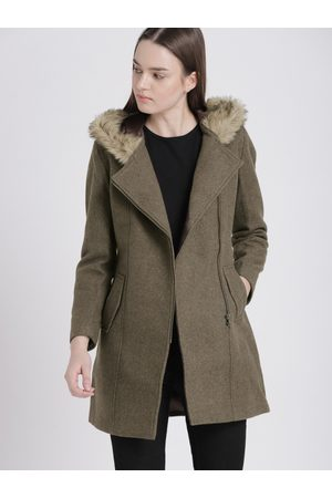 Chemistry Women Brown Solid Parka