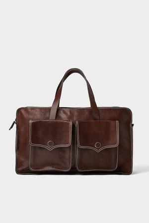 Zara Women Bowling Bags - LEATHER BOWLING BAG