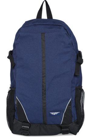 Red Tape Men Navy Blue Solid Backpack