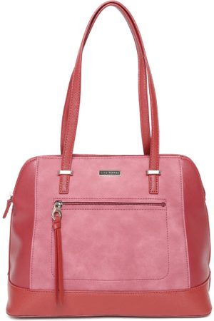 Lino Perros Red & Pink Solid Shoulder Bag