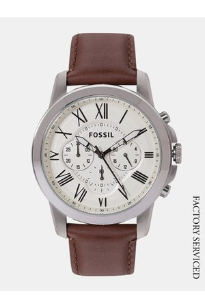 Fossil Men Watches - Men White Factory Serviced Analogue Watch