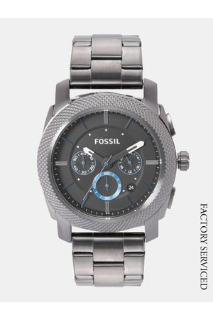 Fossil Men Charcoal Grey Factory Serviced Chronograph Watch FS4931