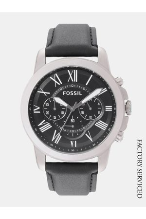 Fossil Men Black Factory Serviced Chronograph Watch FS4812