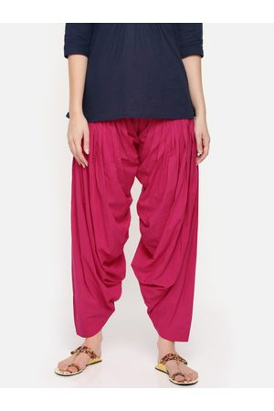 De Moza Women Pink Solid Patiala