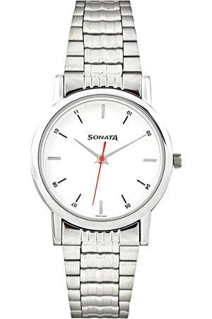 Sonata Men White Dial Watch 7987SM03