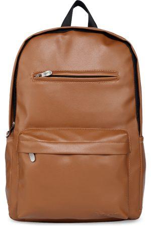 Red Tape Men Tan Solid Backpack