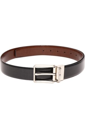 Tommy Hilfiger Men Black & Brown Genuine Leather Reversible Belt