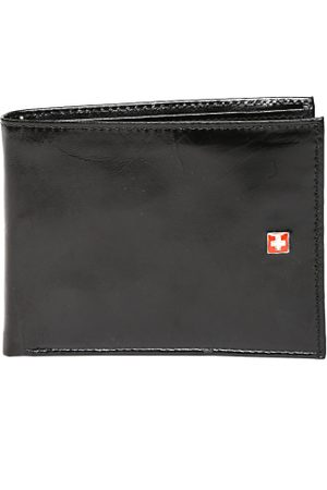 Swiss Military Men Black Genuine Leather Wallet