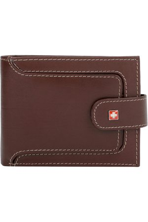 Swiss Military Men Genuine Leather Solid Two Fold Wallet