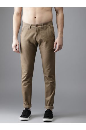 Flying Machine Men Green Slim Fit Solid Chinos