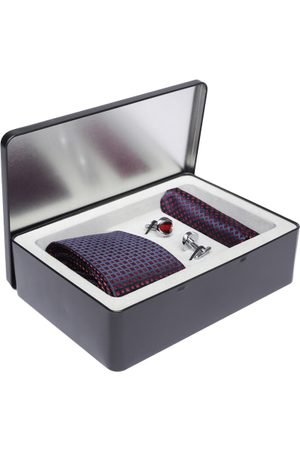 Lino Perros Men Navy Blue & Red Accessory Gift Set