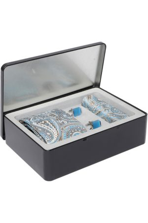 Lino Perros Men Blue & Brown Accessory Gift Set