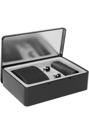 Lino Perros Men Handkerchiefs - Men Black & White Accessory Gift Set