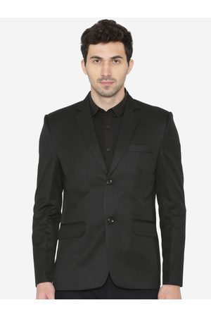 Wintage Men Solid Tailored Fit Single-Breasted Formal Blazer