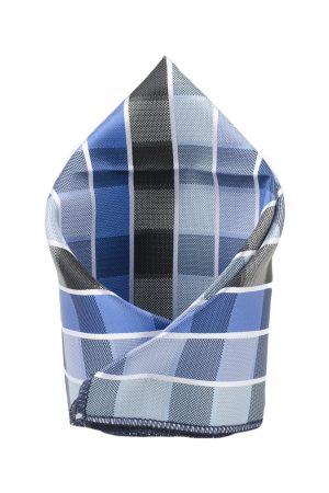 Tossido Men Blue Woven Design Pocket Square