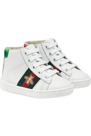 Gucci Boys Sneakers - Toddler's leather high-top sneakers