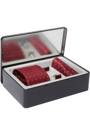 Lino Perros Men Maroon Accessory Gift Set