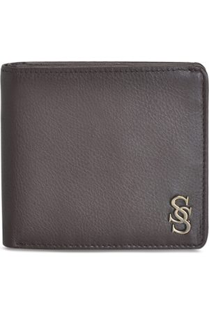 Second Skin Men Brown Solid Two Fold Leather Wallet