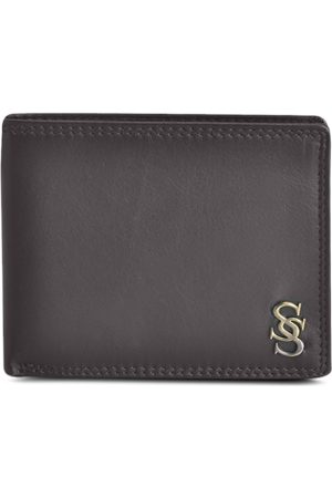 Second Skin Men Brown Solid Two-Fold Genuine Leather Wallet
