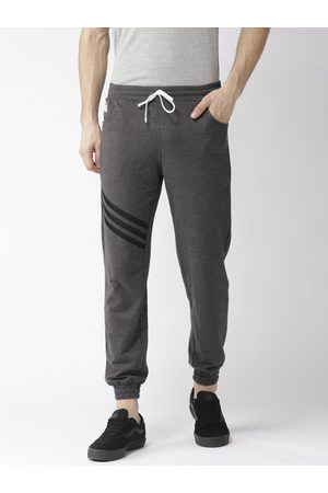 Hubberholme Men Charcoal Grey Solid Slim Fit Joggers